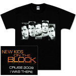 New Kids on the Block Orange Logo Face Blocks Cruise T-Shirt