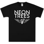 Neon Trees Black Winged Heart T-Shirt