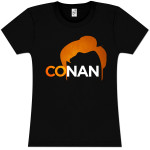 Conan O'Brien Pomp Logo Girlie T-Shirt