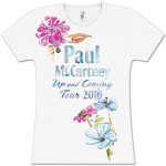 Paul McCartney Water Color Flowers White Babydoll