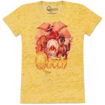 Queen Sunset Crest Girls' Fitted T-Shirt