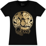 Queen Foil Crest Girls' Fitted T-Shirt
