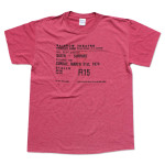 Queen: Live At The Rainbow '74 March Ticket T-Shirt