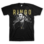 Ringo Starr Foil Photo Black T-Shirt