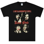 Rolling Stones Red Lipstick Some Girls Black T-Shirt
