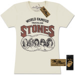 Rolling Stones World Famous Traveling Stones Girlie T-Shirt