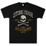 Stone Sour - House of Gold & Bones Part 2 Biker Skull T-Shirt