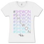 Tamar #Shewon Stacked Gradient Girlie T-Shirt