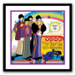 The Beatles Yellow Submarine Limited Edition Hand Painted Artwork