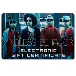 Mindless Behavior Electronic Gift Certificate