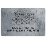 Goo Goo Dolls Electronic Gift Certificate
