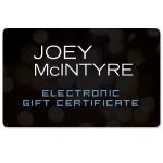 Joey McIntyre Electronic Gift Certificate