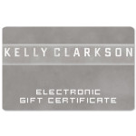 Kelly Clarkson Electronic Gift Certificate