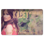 Kacey Musgraves Electronic Gift Certificate