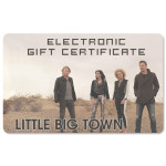 Little Big Town Electronic Gift Certificate