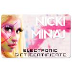 Nicki Minaj Electronic Gift Certificate