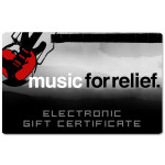 Music For Relief Electronic Gift Certificate