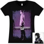 """Justin Bieber """"Never Say Never - The Remixes"""" CD/T-Shirt Bundle #5"""
