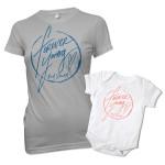 Rod Stewart Signature Heart T-Shirt and Onesie Bundle