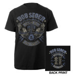 Bob Seger Rock and Roll Never Forgets Winged Guitar Tour Shirt