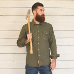 1791 Olive Washed Canvas Western Shirt