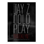 Exclusive! Limited Edition Jay Z & Coldplay New Years Eve Lithograph