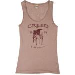 Creed Full Circle Girls Burnout Camel Tank