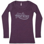 Drive-By Truckers Ladies Purple Long-Sleeve Tee