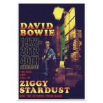 David Bowie 40th Anniversary Ziggy Stardust Vintage Style Print