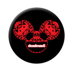 deadmau5 Space Invaders Black/Red Icons Button