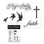 Demi Lovato Temporary Tatoos sheet