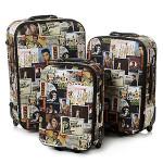 Elvis Collage 3 Piece Luggage Set