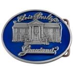 Elvis Blue Graceland Belt Buckle