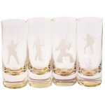 Elvis Silhouette Frosted Tall Shooters