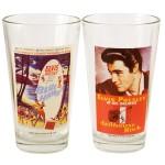Set of 2 Elvis Movie Poster Pub Glasses