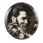 Elvis '68 Comeback Special Black/White Button