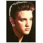 Elvis In Black Magnet