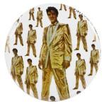 Elvis in Gold Button