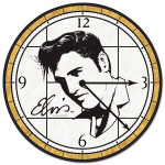 Elvis Art Glass Clock