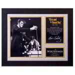 Elvis and the Hound Dog Framed and Matted Photo