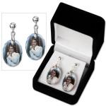 Elvis '68 White Pierced Earrings