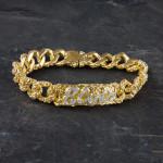 Elvis 18kt Gold Plated ID Bracelet
