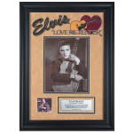 "Elvis Love Me Tender 16"" x 23"" Framed Presentation"