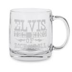 Elvis King Etched Glass Mug