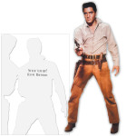 Elvis Presley Flaming Star Happy Birthday Greeting Card