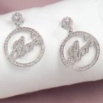 Elvis Circle Script Charm Pierced Earrings