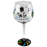 Elvis Shake Rattle and Roll Wine Glass