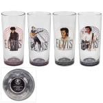 Elvis Stage HiBall Glasses Set of 4