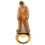 Elvis Gold Lame Bottle Opener