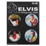 Elvis Hawaii Button Set